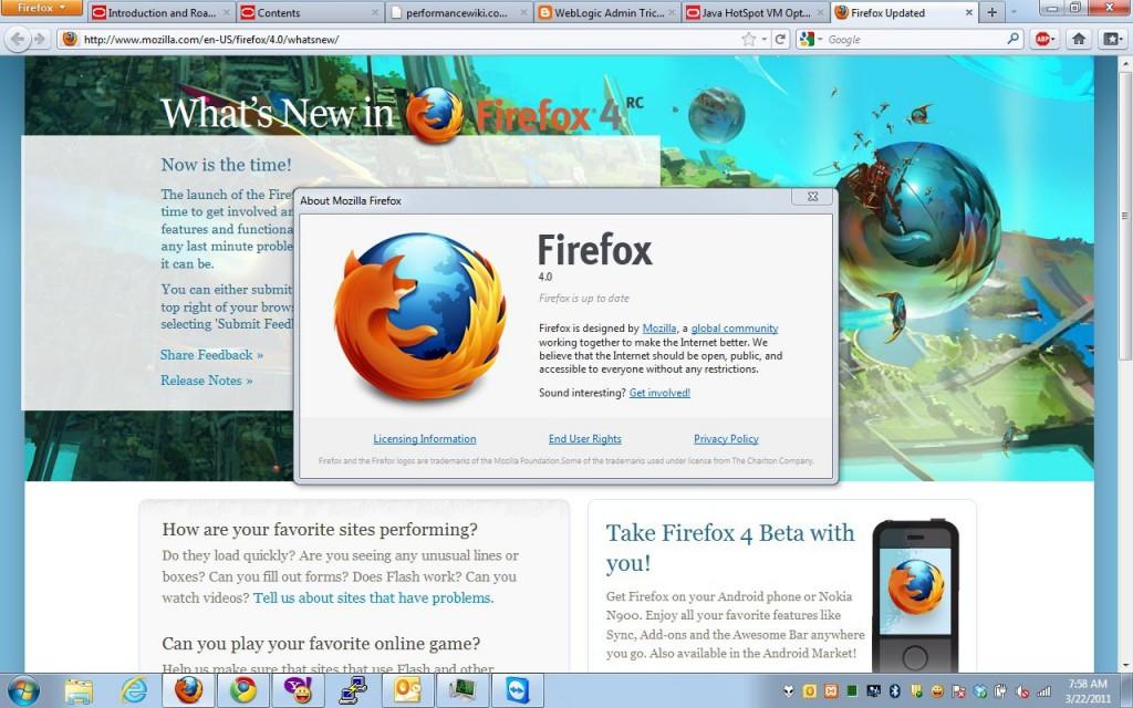 Firefox 4 on Windows 7